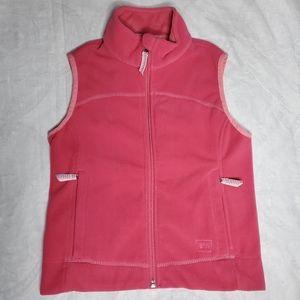 REI pink zip up fleece sweater vest